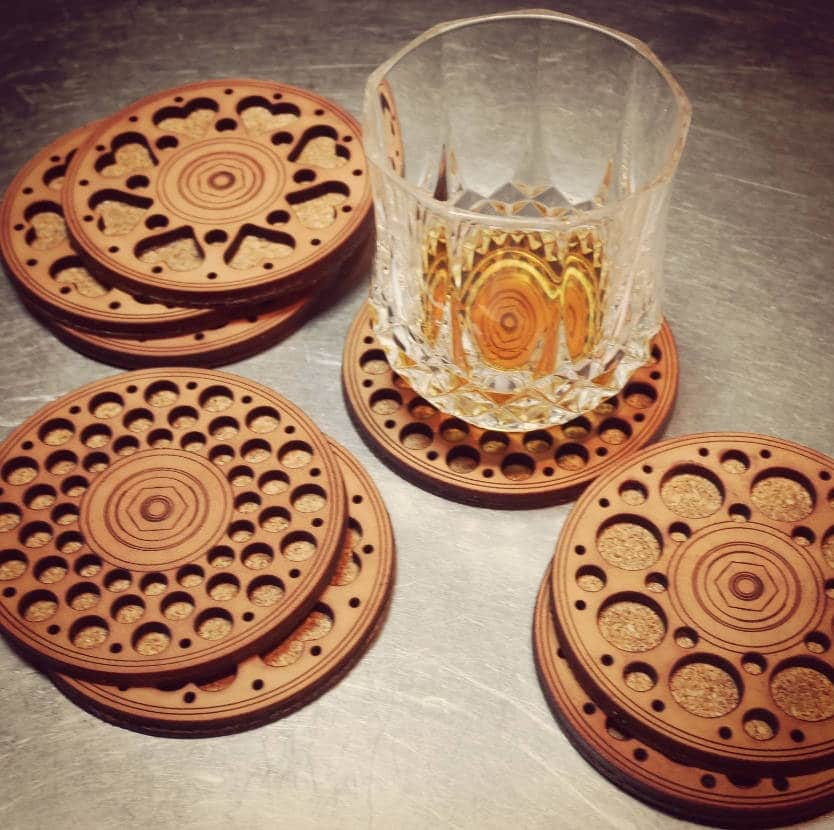 Uses of Cork, cork coaster