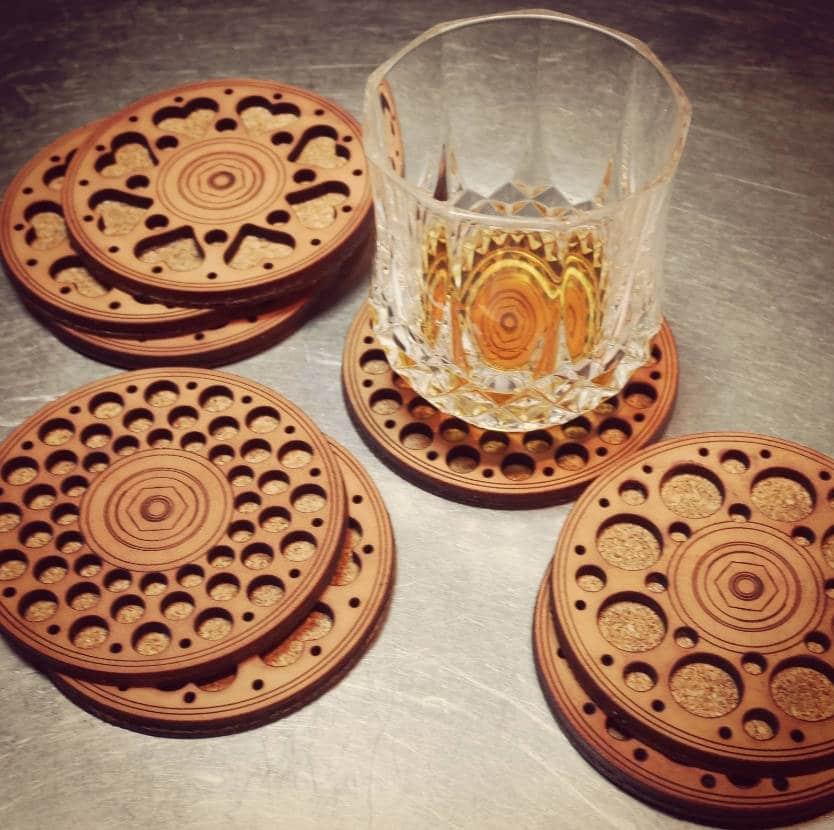 Uses of Cork, cork coaster