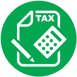 Sustainable Business Model, Tax Benefit Icon