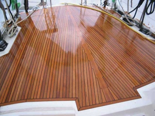 Boat Deck Made of Teak
