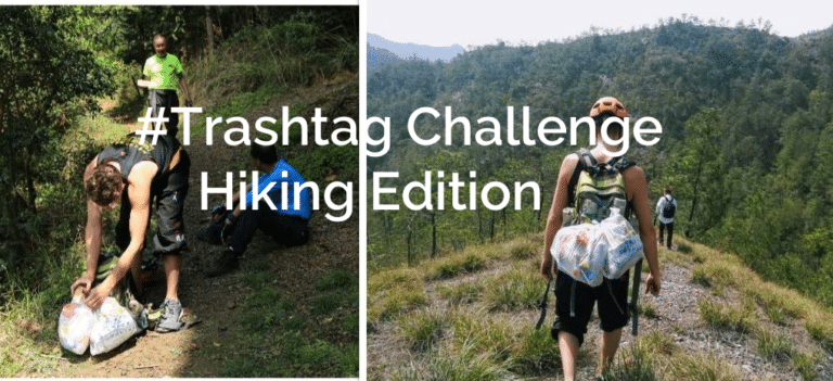 Man goes to China and picks up trash while hiking, locals are loving it! #Trashtag Challenge