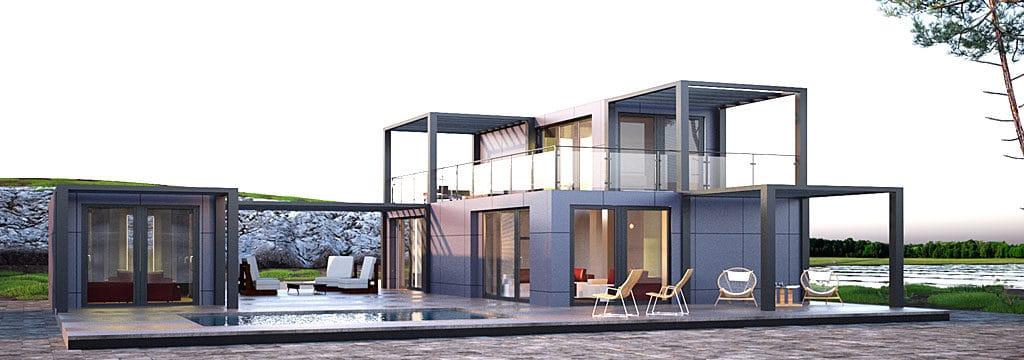 Steel modular home