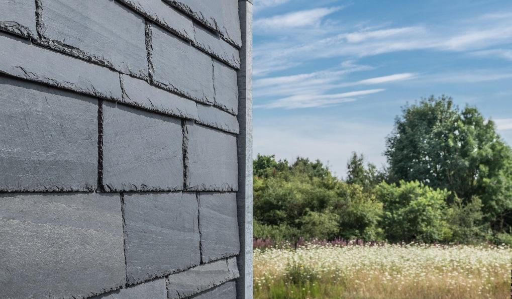 Natural slate, eco friendly modular homes