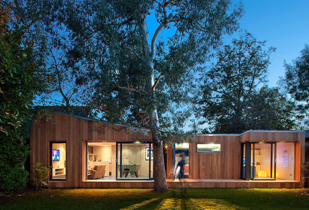 wood modular home