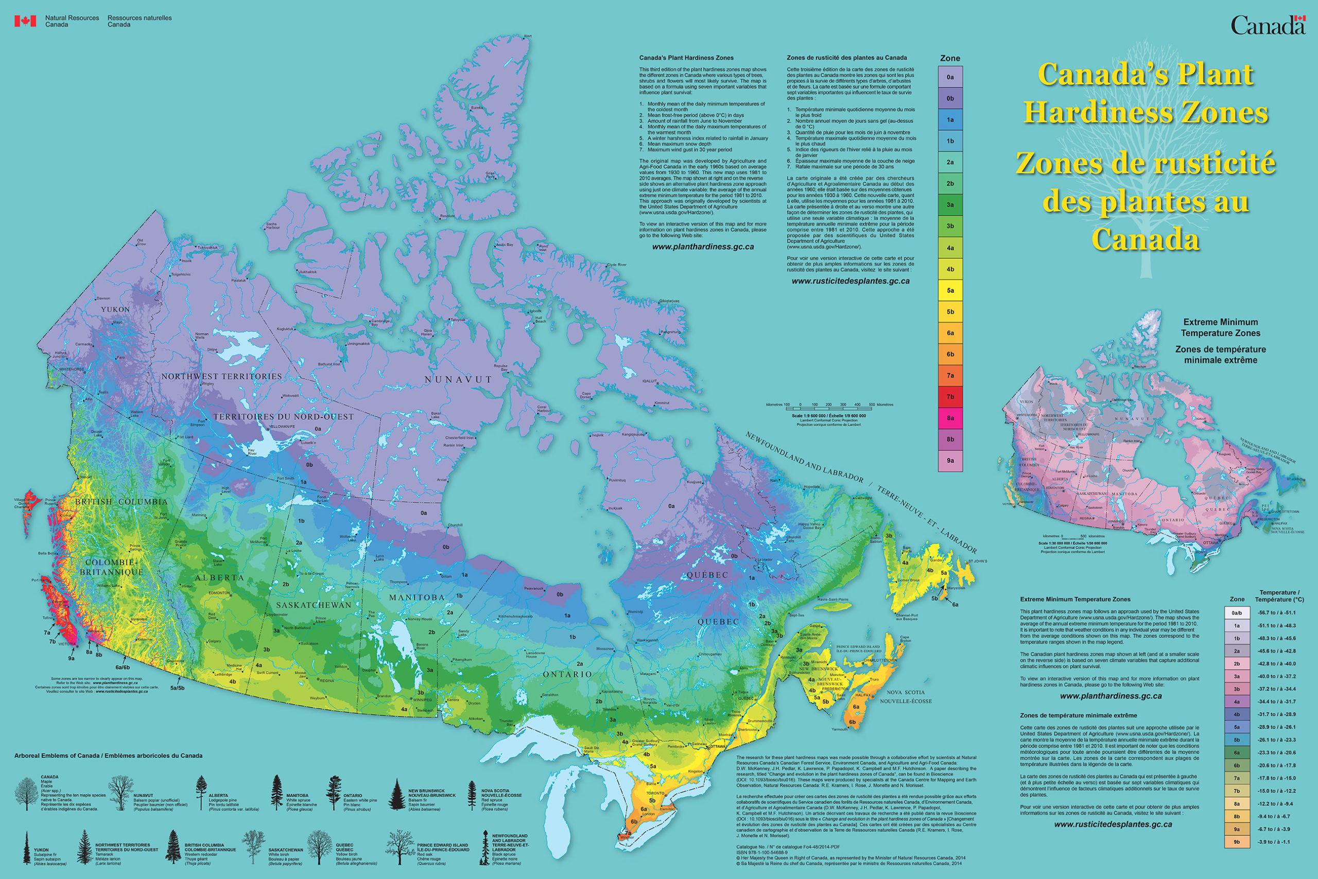 Canada Hardiness Zone Map