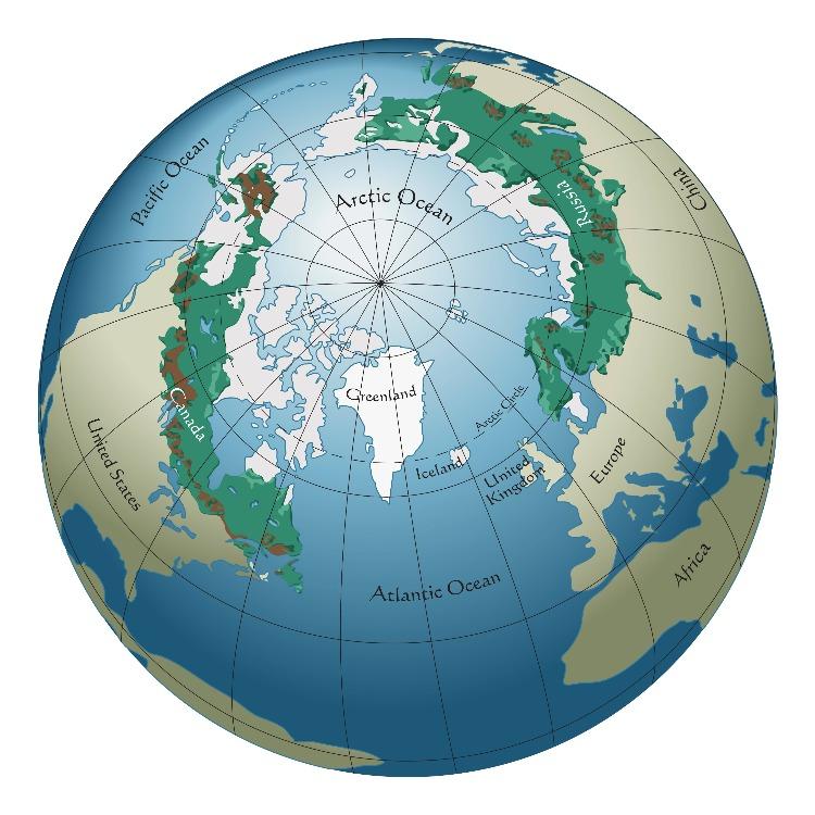 Boreal Forest Map Globe Worldwide Range